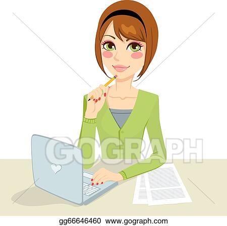 Typing Computer Clip Art Royalty Free Gograph