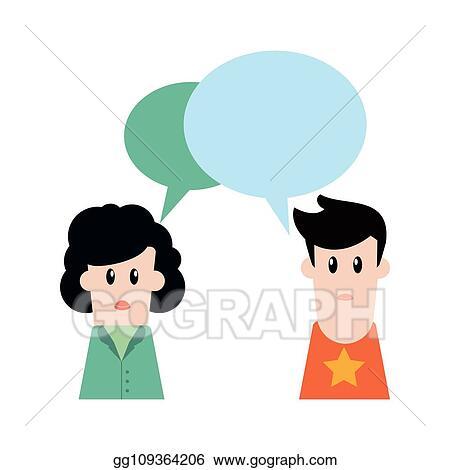 Vector Stock People Talking Cartoon Stock Clip Art Gg109364206