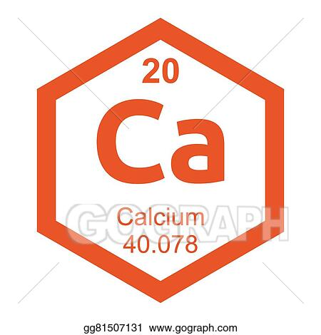 Vector Illustration Periodic Table Calcium Eps Clipart Gg81507131