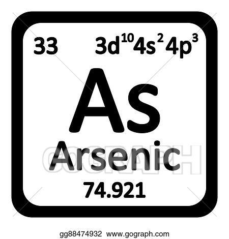 Clip Art Vector Periodic Table Element Arsenic Icon Stock Eps