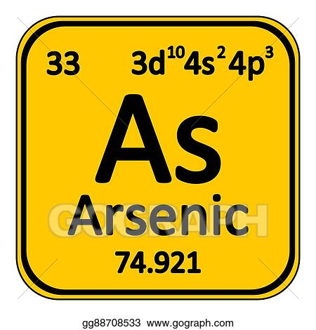 Periodic Table Element Arsenic Icon.