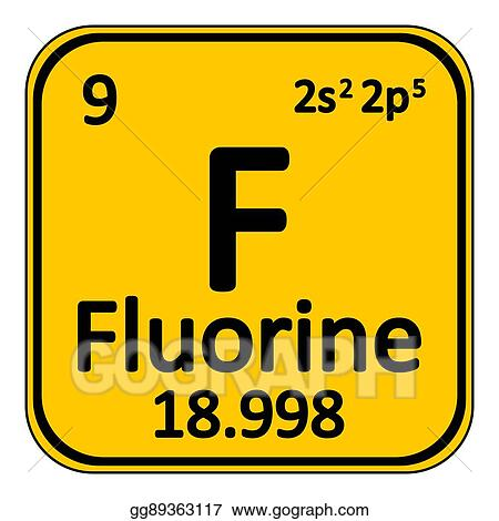Vector stock periodic table element fluorine icon clipart periodic table element fluorine icon urtaz