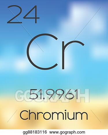 Stock Illustration Periodic Table Of The Elements Chromium Clip