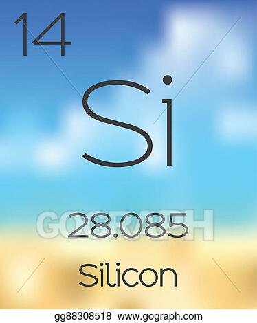 Stock Illustration Periodic Table Of The Elements Silicon Clip
