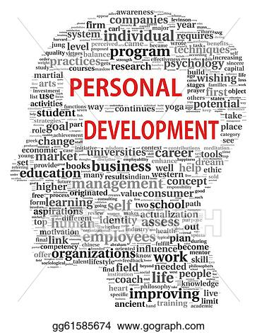 Clipart - Personal development in tag cloud. Stock ...