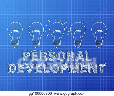 Vector art personal development light bulb blueprint eps clipart personal development light bulb blueprint malvernweather Choice Image