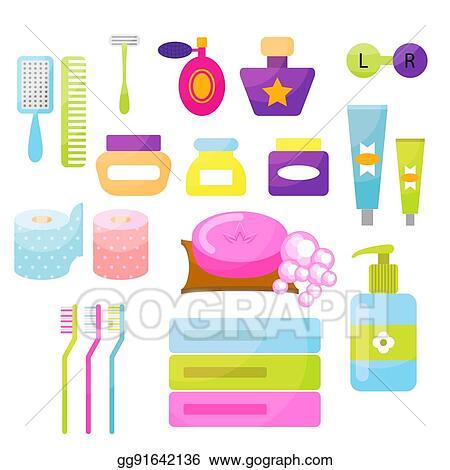 Vector Art - Personal hygiene vector items. EPS clipart gg91642136 - GoGraph