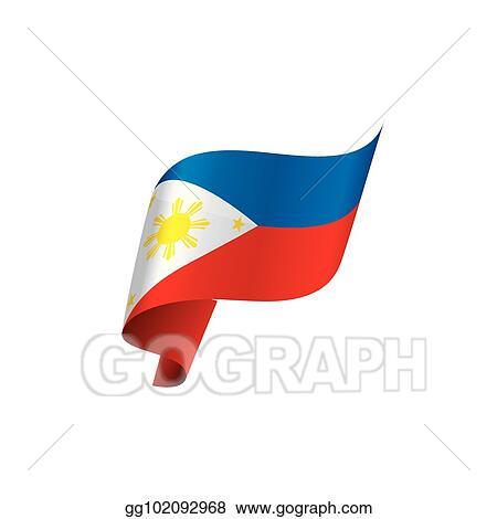 Philippines Flag Vector Illustration