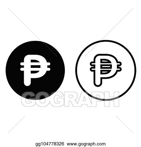 Vector Illustration Philippines Peso Currency Symbol Icon Stock
