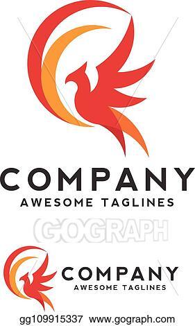 Vector Illustration Phoenix Bird Logo Concept Eps Clipart Gg109915337 Gograph