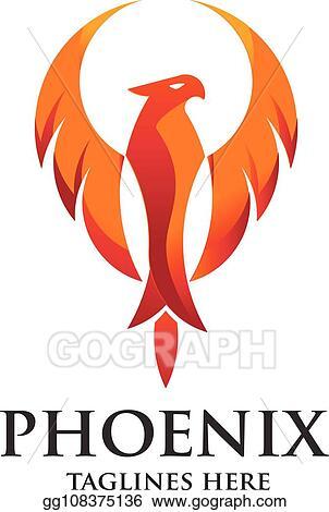 Vector Illustration Phoenix Bird Logo Design Eps Clipart Gg108375136 Gograph
