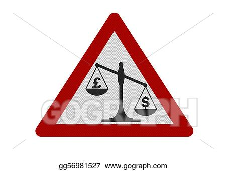Photo Realistic Pound Vs Dollar Warning Sign Isolated