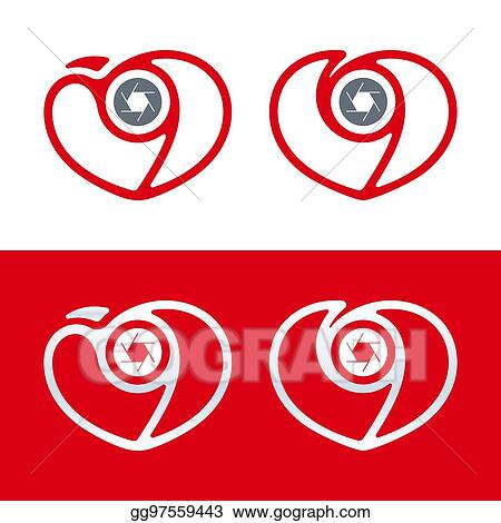 Clipart Photography Logo Camera Icon With Heart And Shutter Love