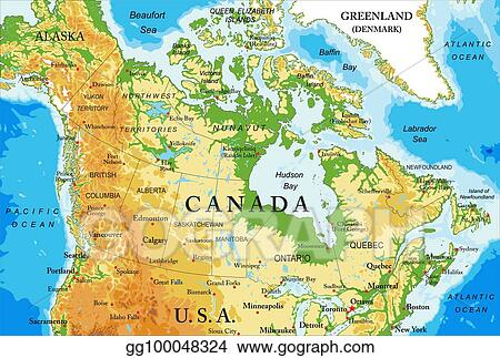 Vector Stock - Physical map of canada. Clipart Illustration ... on photographs of canada, provinces of canada, edmonton canada, printable map of canada, outline political map of canada, world map of canada, large map of canada, landforms of canada, world atlas of canada, map of us and canada, topography of canada, alberta canada, resource map of canada, montreal canada, ontario canada, physical map of canada, lakes of canada, atlas map of canada, google maps canada, capital of canada,