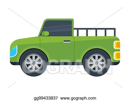 Clip Art Vector Pickup Truck Isolated Vector Icon Stock