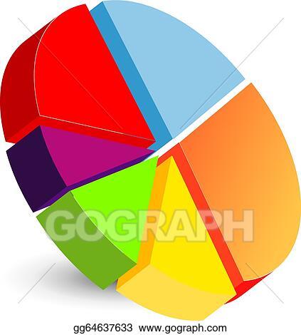 vector clipart pie chart icon vector illustration gg64637633 rh gograph com pie chart slice clipart pie chart clipart