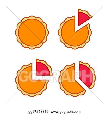 Vector Clipart Pie Chart Set Vector Illustration Gg97258316 Gograph