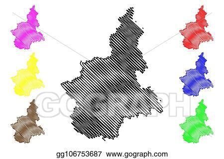 Vector Art Piedmont Map Eps Clipart Gg106753687 Gograph