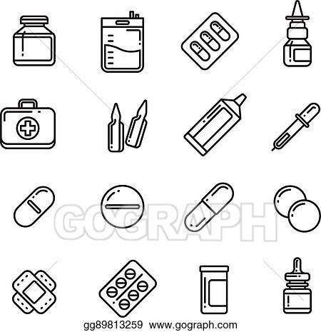 vector stock pills drugs pharmacy medicine medication line Beyond the Blue Pill pills drugs pharmacy medicine medication line vector icons