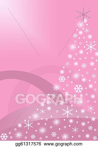 Drawing Pink Abstract Christmas Tree Clipart Drawing Gg61317576