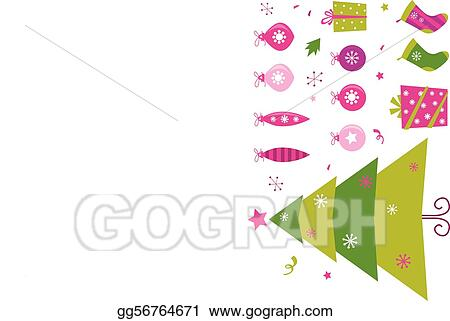 Pink And Green Retro Christmas Icon