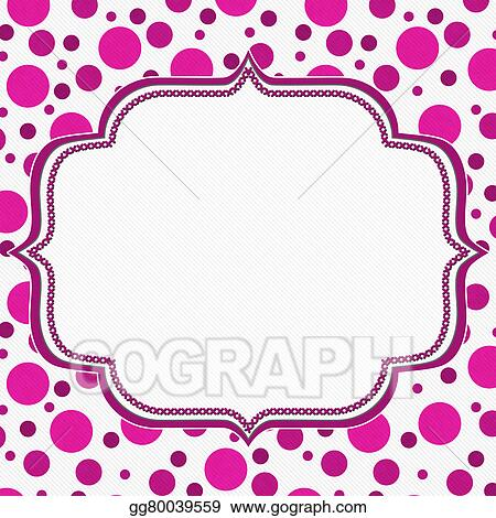 Clipart - Pink and white polka dot frame background. Stock ...