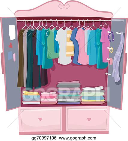 Vector Stock Pink Armoire Clipart Illustration Gg70997136 Gograph