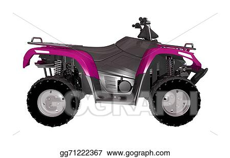 Drawing Pink Atv Bike Side View Clipart Drawing Gg71222367 Gograph