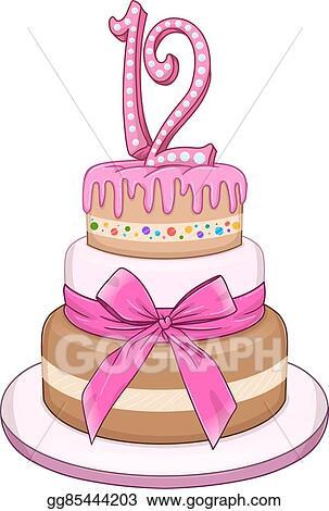 Pink Bat Miztvah Cake For 12th Birthday
