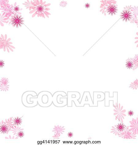 Stock illustration pink flower border clipart illustrations pink flower border mightylinksfo