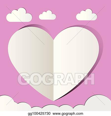 Eps Vector Pink Heart Love Paper Cutter Love Valentine S Day