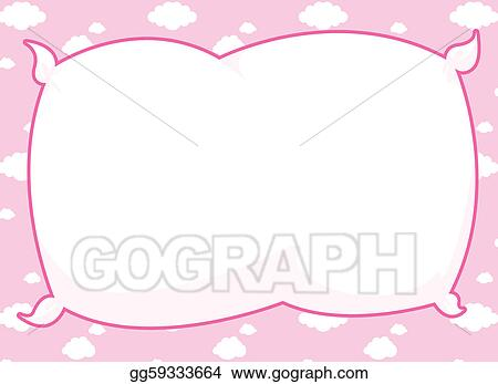 Stock Illustration Pink Pillow Frame Clipart Drawing