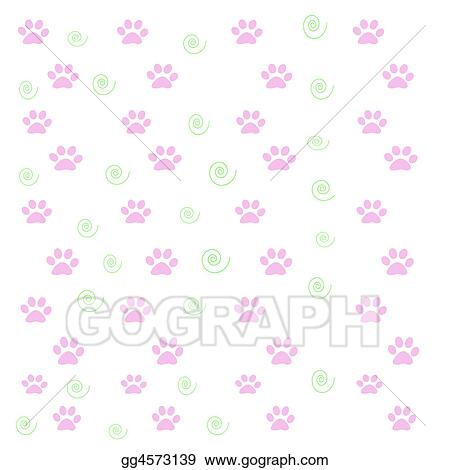 stock illustration pink puppy paws clipart gg4573139 gograph