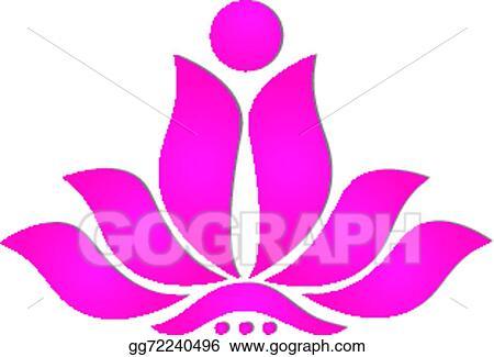 Vector stock pink stylized lotus flower icon logo design clipart pink stylized lotus flower icon logo design mightylinksfo Choice Image