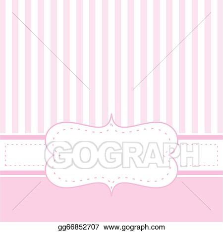 Vector clipart pink vector baby card or invitation vector pink vector baby card or invitation stopboris Choice Image