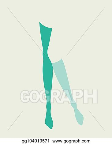 6bd1acaffcb Vector Art - Pinup woman legs in mismatching socks and stockings ...
