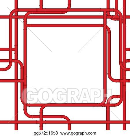 Vector Clipart - Pipe frame. Vector Illustration gg57251658 - GoGraph
