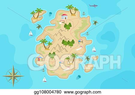Vector Stock - Pirate fantasy cartoon island map. vector ... on lords of the fallen world map, sacred 3 world map, infamous second son world map, bound by flame world map, witcher 2 world map, grim dawn world map, diablo world map, battlefield 4 world map, majoras mask world map, fable 2 brightwood map, fable anniversary map, the last of us world map, the walking dead world map, fable 1 map, the sims 4 world map, faerun world map, two worlds world map, the legend of korra world map, need for speed rivals world map, fable iii map,