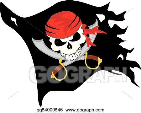 vector art pirate flag eps clipart gg54000546 gograph