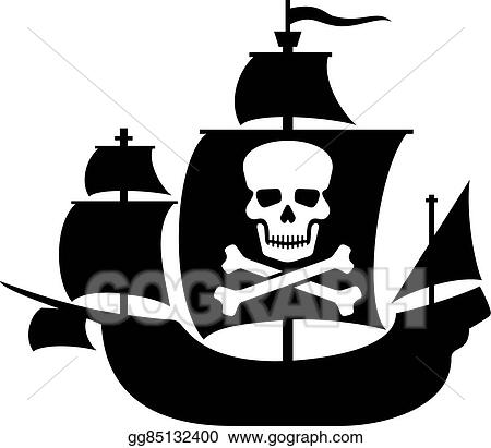 vector clipart pirate ship with skull skull vector illustration rh gograph com pirate ship vector art pirate ship vector drawing