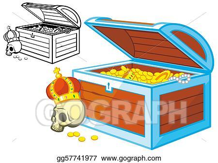 Pirate Treasure Chest Clipart | +1,566,198 clip arts