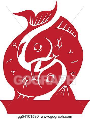 Stock Illustration Pisces Zodiachoroscope Symbol Clipart