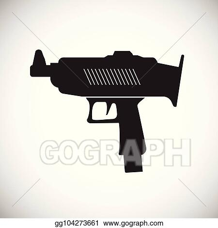 eps illustration pistol or gun icon black gun illustration vector gun vector clipart gg104273661 gograph eps illustration pistol or gun icon