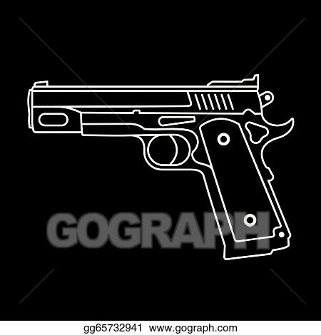 vector art pistol vector icon eps clipart gg65732941 gograph vector icon eps clipart gg65732941