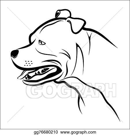 vector art pitbull clipart drawing gg76680210 gograph rh gograph com pitbull clipart silhouette pit bull clip art vector