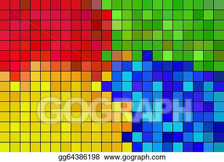Stock Illustration Pixel Art Abstract Color Background
