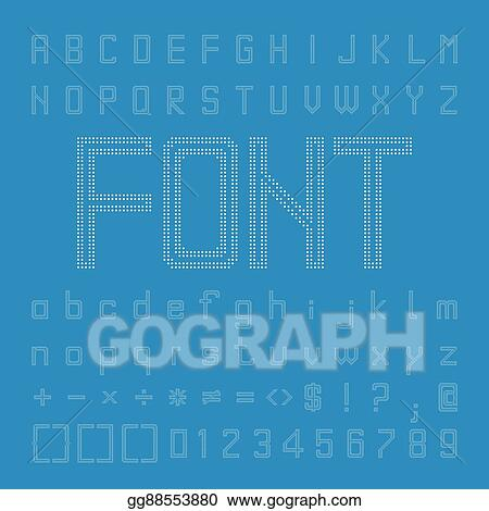 Vector Art - Pixel font design, vector letters and numbers