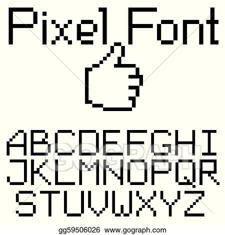 EPS Illustration - Pixel font  Vector Clipart gg59506026