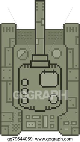 a62d50ddb3a1a EPS Vector - Pixel military tank top. Stock Clipart Illustration ...