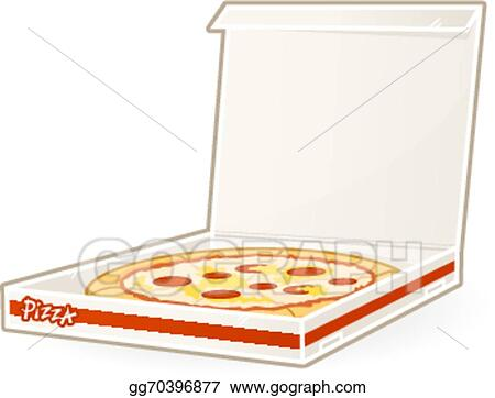 vector art pizza box clipart drawing gg70396877 gograph rh gograph com pizza box clipart free Pizza Delivery Clip Art